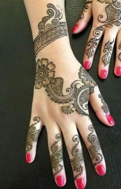 Simple Mehndi designs - 2