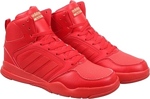 a9713d5f669133 Adidas Neo CLOUDFOAM REWIND MID Sneakers (Red)