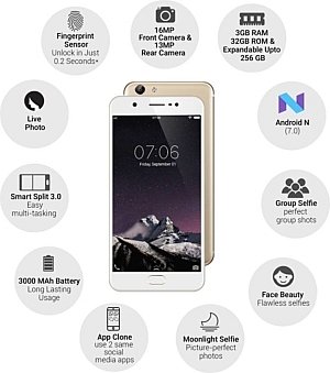 VIVO Y69 (Gold, 32 GB) (3 GB RAM)